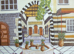 Drawing of traditional Syrian house