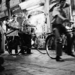 Syrian street scene with bicycles