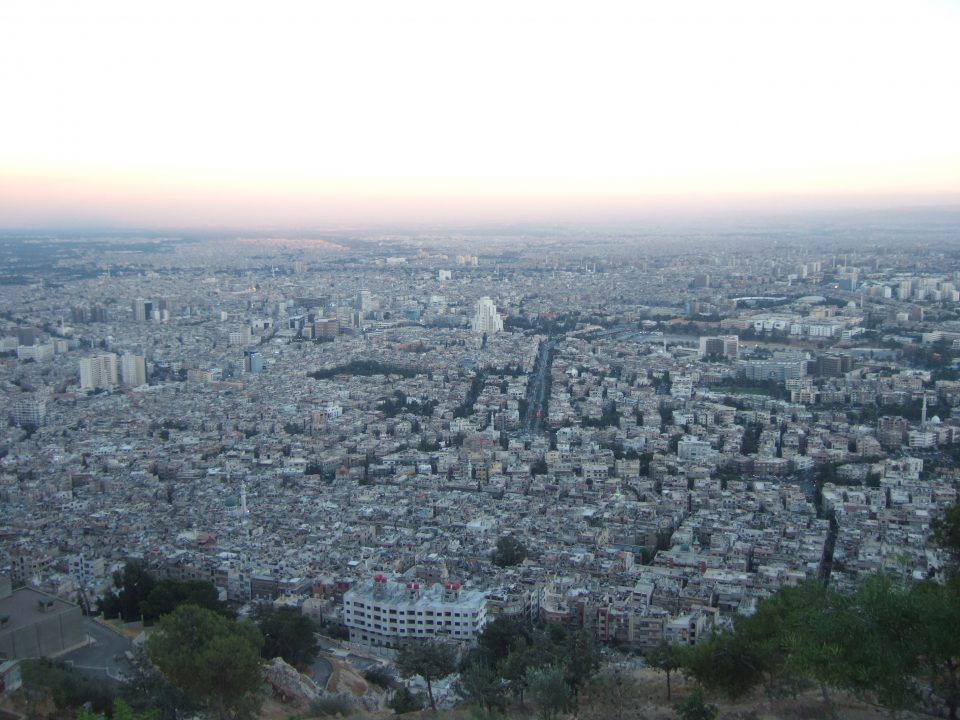 Damascus seen from above