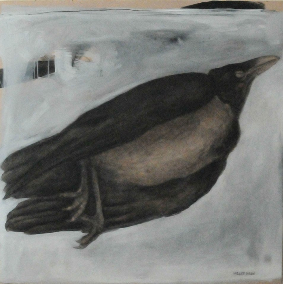Painting of a crow