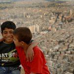 Two Kurdish boys on top of Mount Qasyun