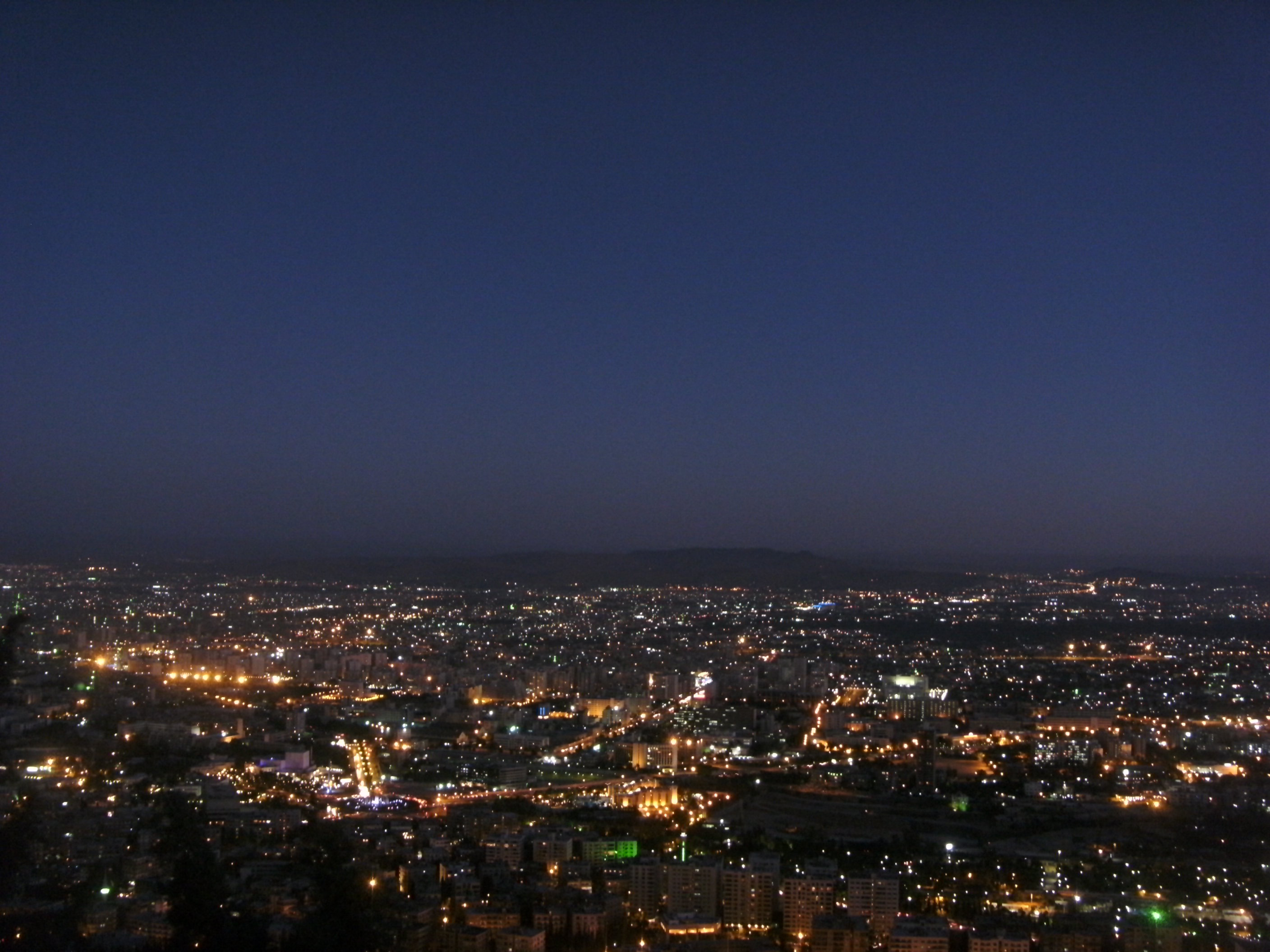 View over Damascus at dusk
