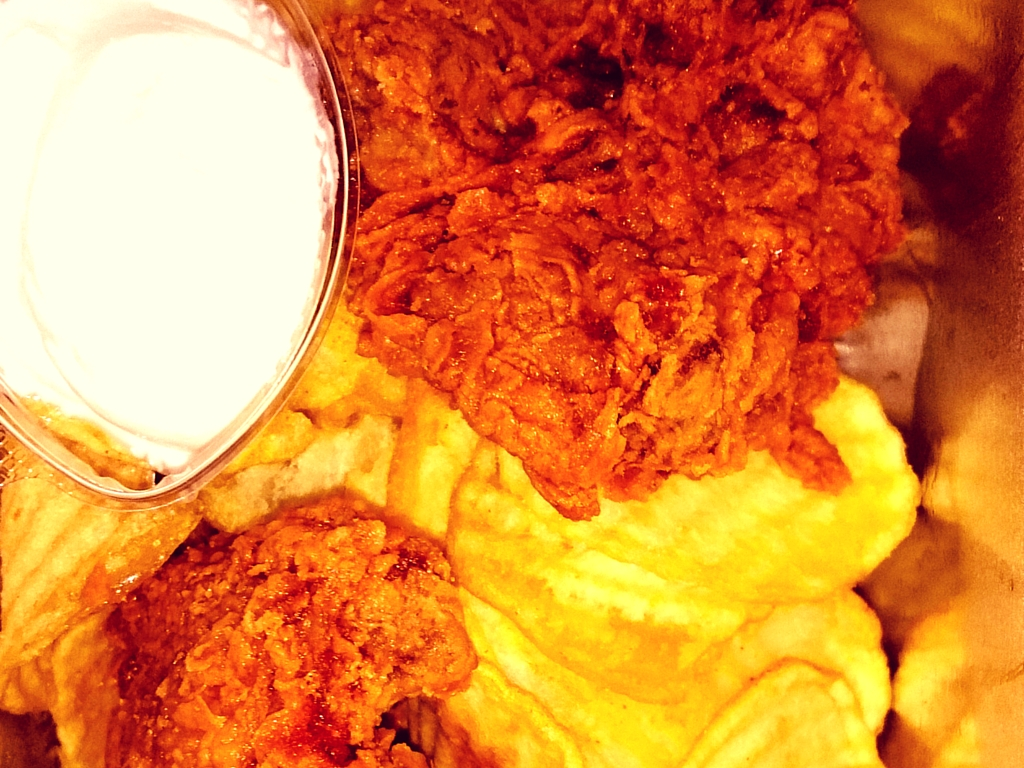 Close up of fried chicken