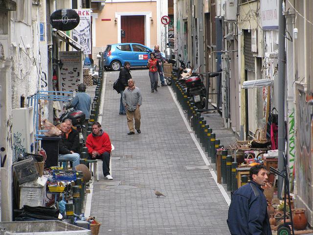 Athens street via Luigi Guarino Creative Commons