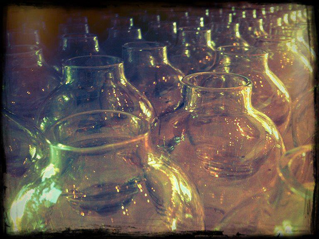 Glass preserve bottles