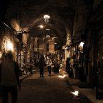 Aleppo souk at night