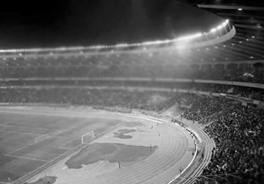 Football stadium full of spectators