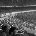 crowd in a football stadium