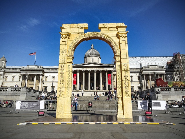 Arch replica in Trafalgar Square