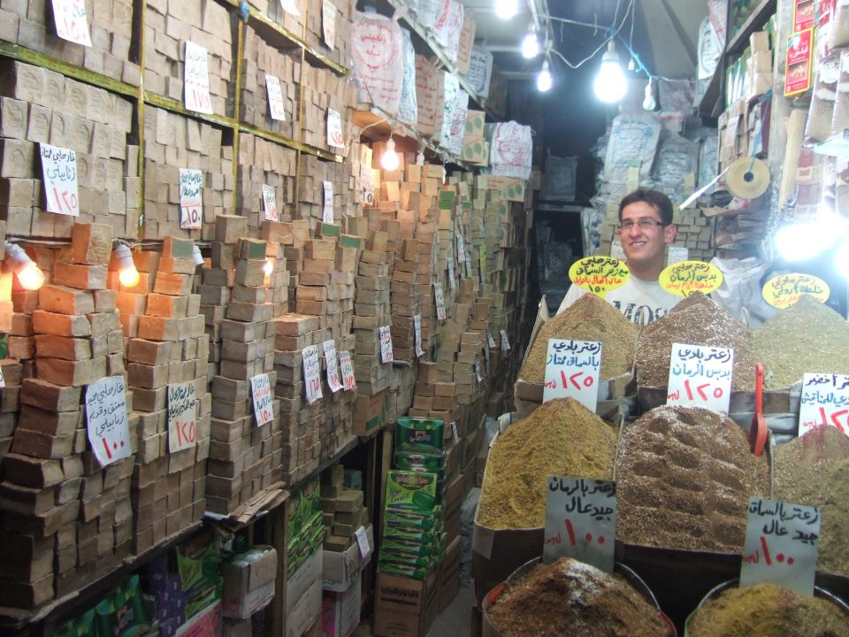Soap and spices in market