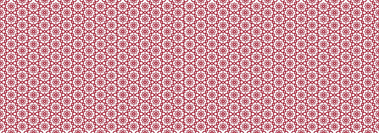 red and white flower pattern