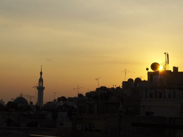 Damascus skyline at dusk