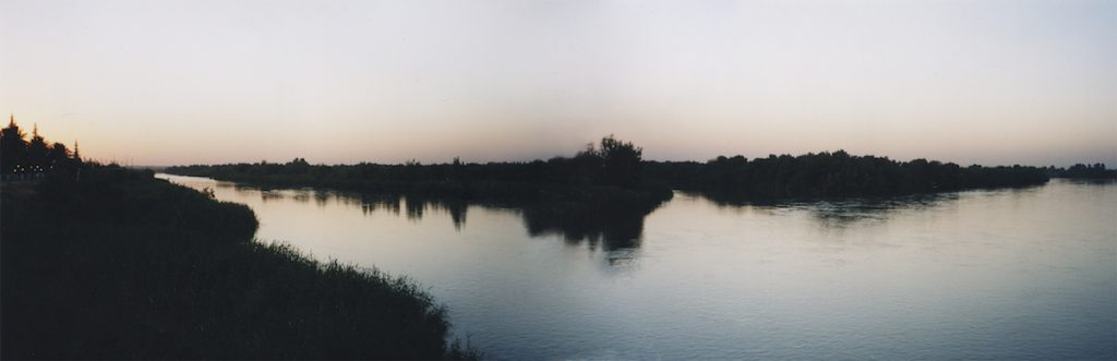 Euphrates river at sunset