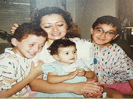Etab Hreib with her children