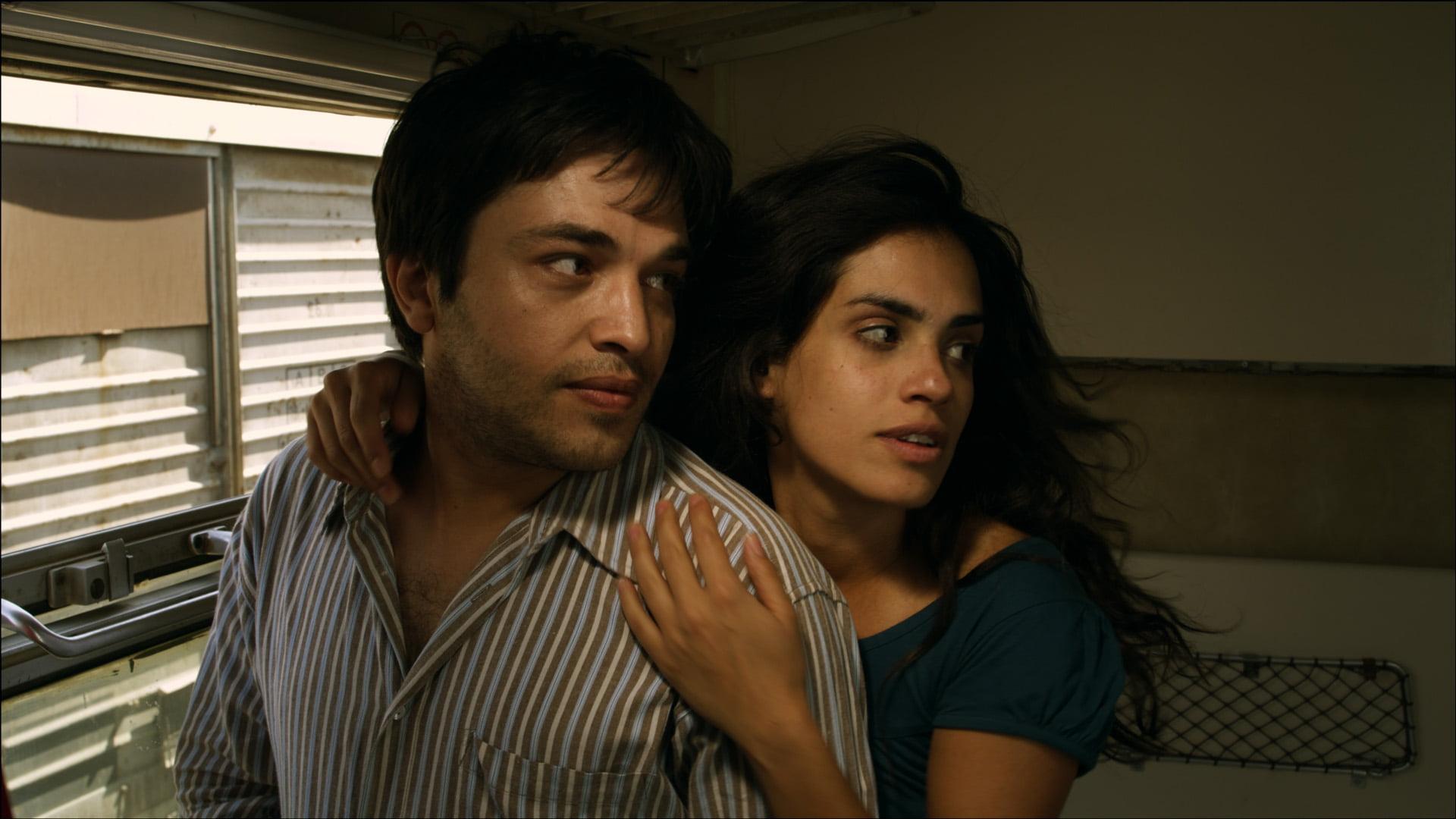 "Ammar Haj Ahmad and Alexandra Kahwagi in ""Road Trip"" (2012), Directed by Meyar Roumi"
